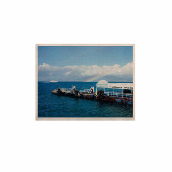 "Violet Hudson ""Rainbow Pier"" Blue White KESS Naturals Canvas (Frame not Included)"
