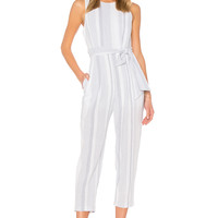 ASTR Presley Jumpsuit in Sky Blue Stripe