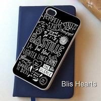 Bastille Quote - Made iPhone 4/4S/5/5S/5C/6/6Plus Case, iPod 4th/5th Case, Samsung Galaxy S3/S4/S5 Case by BlisHearts