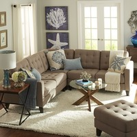 Build Your Own Nyle Sectional - Putty