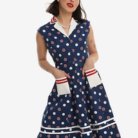Her Universe Marvel Captain America Retro Button-Front Dress