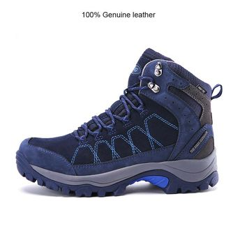 100% Genuine Leather Men Hiking Boots
