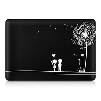 "kwmobile Design dandelion love Decal sticker for Apple MacBook Air 13"" Front skin foil vinyl decal"