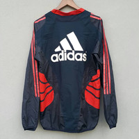 Vintage 90s red black ADIDAS f.c tokyo training clima 365 trefoil equipment training nylon pullover jacket size M