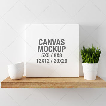 Canvas Photography Mockup / 5x5 photo canvas / 8x8 canvas frame / 12x12 blank canvas / 20x20 blank canvas  art canvas / canvas poster