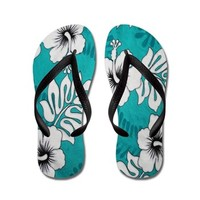 Vintage Blue Hawaii By J3ll3y Flip Flops> Flip Flops > The Afterlife Online Clothing Store
