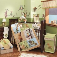 Enchanted Forest Baby Crib Bedding by Lambs & Ivy