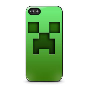 creeper minecraft iphone 5 5s se case cover  number 1
