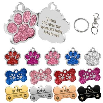 f2157a5ba367 Personalized Dog Tags Engraved Cat Puppy Pet ID Name Collar Tag