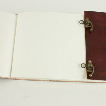 7x10 Handmade Leather Journal Sketchbook diary double Lock Eco Paper