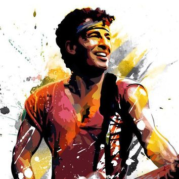 BRUCE SPRINGSTEEN Pop Art style Rock n Roll by mediagraffitistudio