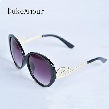 Duke Amour Luxury Sunglasses Women Brand , Retro Oversized Cateye Sun Glasses Female Mirrored Sunglases gafas de sol mujer