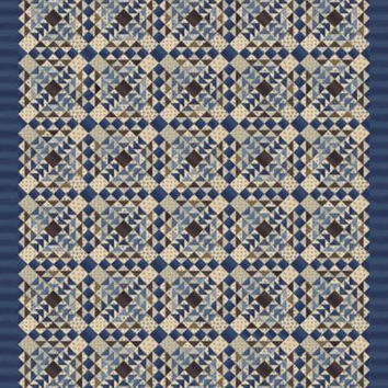 Union Blues Quilt Kit by Barbara Brackman for Moda