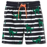 "4"" Dino Swim Trunks