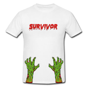 Awesome Zombie T Shirt - Custom Zombie T Shirts - Zombie Shirts - Zombie Survivor Shirt - Humor T Shirts - Mens Humor Tee - Funny T Shirts