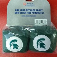 "NCAA Michigan State Spartans 3""  Fuzzy  Dice"