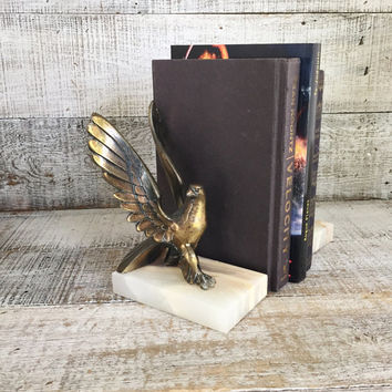 Bookends Hollywood Regency Solid Brass Eagles On Marble Bookends Solid Brass Bookends Mid Century Brass Door Stoppers Home Office Decor