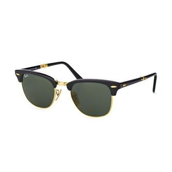 NEW Ray Ban RB2176 901 CLUBMASTER Black Crystal Mens Womens Sunglasses Glasses