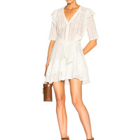Veronica Beard Sima Dress in White | FWRD
