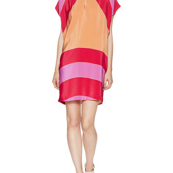 See by Chloe Women's Silk Colorblocked Shift Dress - Size M
