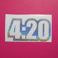 4:20 weed vinyl decal sticker - decal for car - laptop sticker