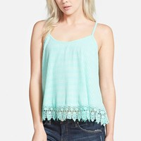 Women's Eline Lattice Back Crochet Hem Tank