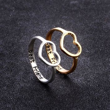 0bcdc161a6 2018 New Fashion Silver Gold Heart Shaped Wedding Ring for Woman