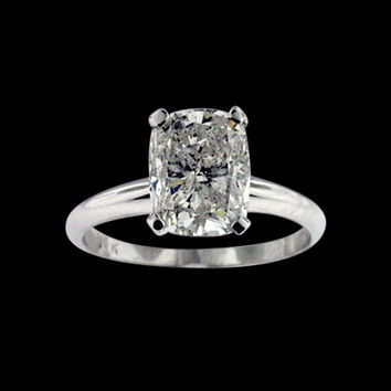 Radiant diamond ring I SI1 solitaire diamond 1 carats