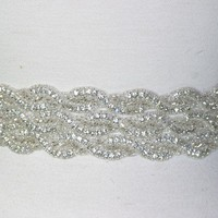 Couture bridal sash beltGlam Rock by GlamHouse on Etsy