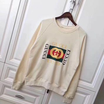 Gucci Women Man Fashion Snake Embroidery The Tiger Top Sweater Pullover
