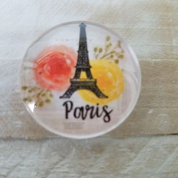 Paris glass cabochon 30 mm jewelry glass cover handmade supply