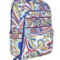 Vera Bradley Laptop Backpack (Marina Paisley)
