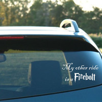 Harry Potter Inspired My other ride is a by NothinbutVinyl on Etsy
