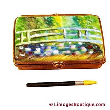 MONET JAPANESE FOOT BRIDGE PAINT BOX LIMOGES BOX