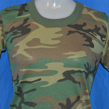 90s Woodland Camouflage Deadstock t-shirt Youth Medium