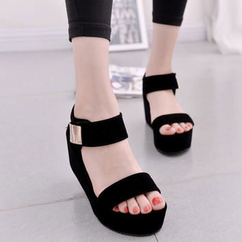 2017 new women wedges sandals women's platform sandals fashion summer shoes women casual shoes free shipping