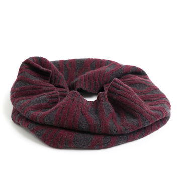 Plaited Cashmere Cable Infinity Scarf