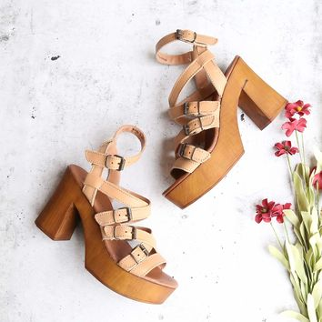 musse & cloud 'malena' sandal (women) - cue/tan