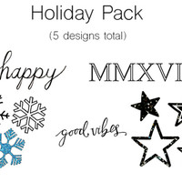 Temporary Tattoo, Holiday Pack