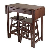 Winsome Wood 40338 Mercer Double Drop Leaf Table Kitchen Island, Cappuccino