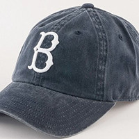 Brooklyn Dodgers MLB New Raglin Cotton Twill Distressed Screen Printed Cap