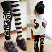 Children Clothes 2014 girls lovely panda outfits long sleeve t shirt+ leggings 2pcs sets children suits kids autumn clothing fashion garment