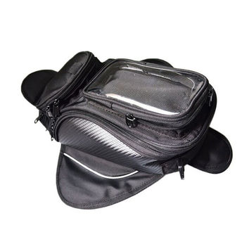 Motorcycle TANK OIL FUEL Magnet BAG Motorbiker Oxford Waterproof GPS Saddle bags TANK BAG Luggage BIG View Area