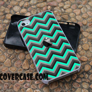 The Black and Trendy Green Chevron case for iPhone 4/4S/5/5S/5C/6/6+ case,samsung S3/S4/S5 case,samsung note 3/4 Case