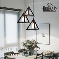 Vintage Wrought Iron Pendant Lights Industrial Lighting Fixtures Black Metal Kitchen Island Office Shop Hotel LED Ceiling Lamp
