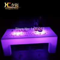 Room Decoration Furniture Glass End Table Plastic Luminous Color Changing