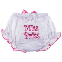 White & Hot Pink Miss Priss Diaper Cover | Hobby Lobby | 228437