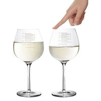 MUSICAL WINE GLASSES - SET OF 2