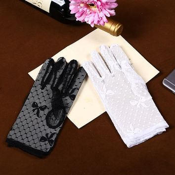 1 Pair 2017 New Arrival Party Driving Sexy Women Lady Lace Gloves Mittens Accessories Girl's