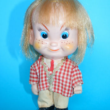 Kitsch Vintage 1960s? Toy Boy Doll / Troll Made in Japan